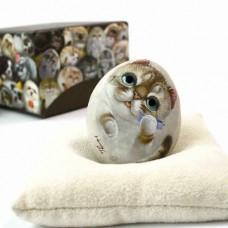 Декоративный камень ручной росписи кошка Китти