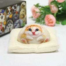 Художественный камень авторской росписи кошка Пирл