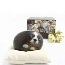 Декоративный камень ручной росписи щенок Коди