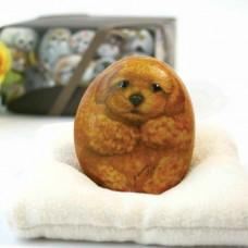 Художественный камень авторской росписи собачка Мими