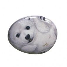 Фарфоровый магнит белый мишка