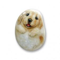 Фарфоровый магнит щенок