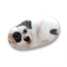 Фарфоровый магнит пес Зак