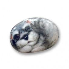 Фарфоровый магнит собачка