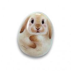 Фарфоровый магнит кролик