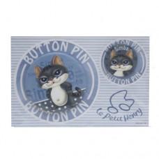 Набор значков c котенком