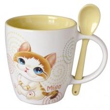 Кружка с ложкой с котёнком в красочной упаковке