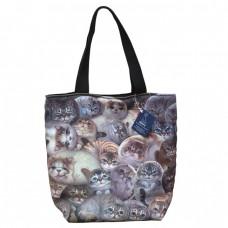 Популярная женская сумка с кошками Генри для ежедневного использования