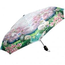 Автоматический зонт с кошечками и цветами