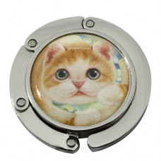 Крючок-вешалка на стол для сумки с котенком