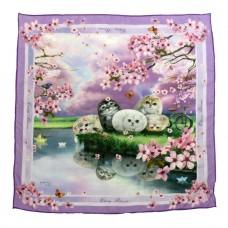 Шейный платок с кошечками в подарочной упаковке