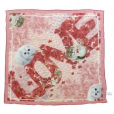 Шейный платок с кошками в подарочной упаковке