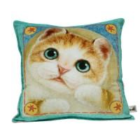 Интерьерная подушка с котенком Миго