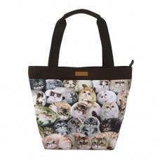 Женская сумка с потайным внешним карманом с котами Генри