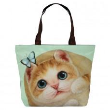 Легкая женская сумка с котом для ежедневного использования