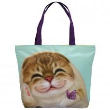 Легкая хозяйственная сумка на молнии с кошечкой Беллой для ежедневного использования