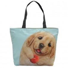 Легкая женская сумка с щенком лабрадора для ежедневного использования