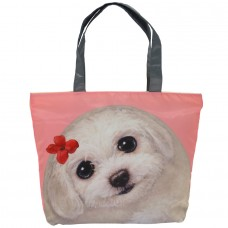 Легкая женская сумка с собачкой для ежедневного использования