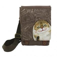 Женская сумка-планшет с изображением кошки Беллы