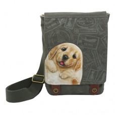 Женская сумка-планшет с щенком