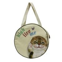 Большая спортивная сумка с кошкой для фитнеса или пляжа