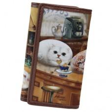 Чехол для ключей с кошками в кафе