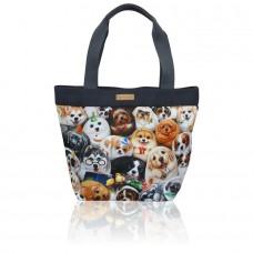 Женская сумка с потайным внешним карманом с собачками