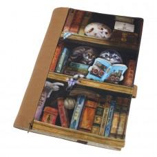 Обложка для книг с кошками в библиотеке, регулируемая толщина. Карман