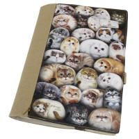 Обложка для книг с котятами. Регулируемая толщина. Карман