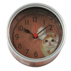 Часы настенные кошачьи консервы на магните на батарейках