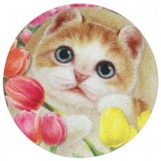 Наклейка на мобильный для протирания экрана с котенком