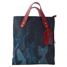 Джинсовая сумка с логотипом Henry cats and Friends