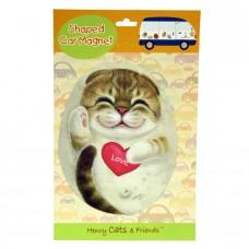 Магнит на холодильник кошка с сердечком