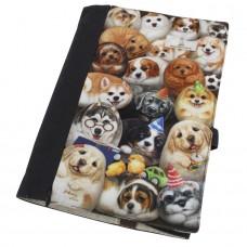 Обложка для книг с собачками регулируемая толщина. Карман