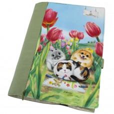 Обложка для книг с Henry Cats and Friends, регулируемая толщина. Карман