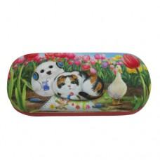 Очечник с кошкой и собакой с микрофиброй для протирания