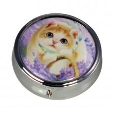 Коробочка-пилюльница для мелочевки и украшений с котенком Миго