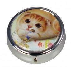 Коробочка-пилюльница для мелочевки и украшений с котейкой
