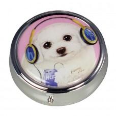 Коробочка-пилюльница для мелочевки и украшений с собачкой Момо