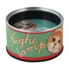 Лампа-ночник настенный/настольный в виде консервной банки кошачьи консервы