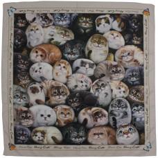 Шейный платок с кошечками Генри в подарочной упаковке