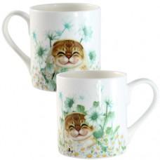 Кружка фарфоровая с кошками