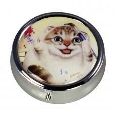 Коробочка-пилюльница для мелочевки и украшений с котиком