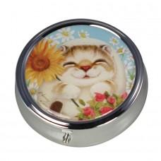 Коробочка-пилюльница для мелочевки и украшений с котенком Бонни