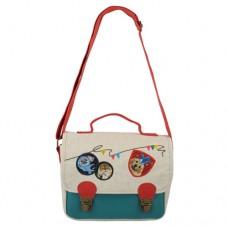 Стильная сумка-почтальонка с животными из прочного канваса
