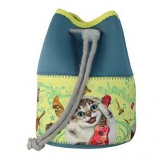 Ридикюль-косметичка с забавным котом Эдди