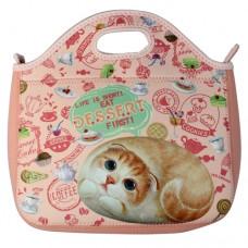 Прогулочная сумка с кошкой Хенной из мягкого материала на молнии