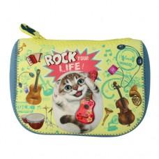 Косметичка-клатч с забавным котом Эдди из мягкого влаго- и ударо- защитного материала