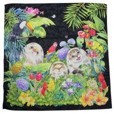Шейный платок с кисами в подарочной упаковке