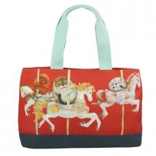 Классическая сумка-тоут с внутренним и внешним карманом на молнии